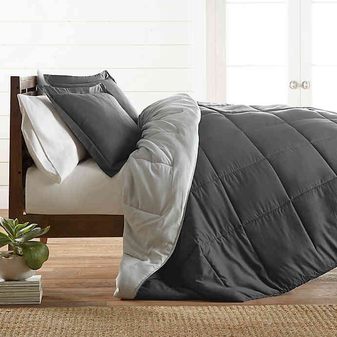 All Season Down Alternative 3 Piece Reversible Comforter Set Bed Bath Beyond Comforter Sets Grey Comforter Sets Comforters