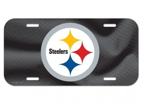 Pittsburgh Steelers Logo Plastic License Plate NEW!! Free Shipping