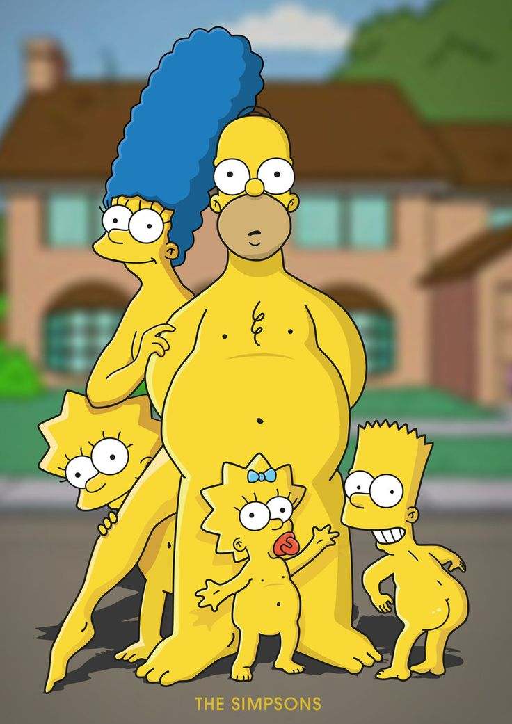 The Simpsons in The Buff