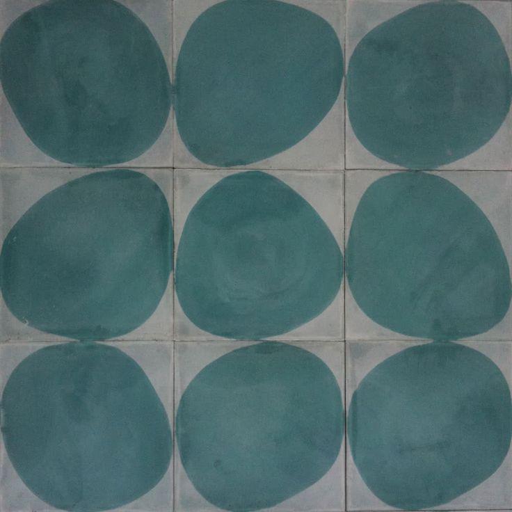 Stone A/B/C – icicle/azure, Badezimmer, Küche, Wohnzimmer, Optik: Terrakottaoptik, Zement, Universale Fliesen, Matte Oberfläche, Glänzende Oberfläche , Nicht rektifizierte Kante