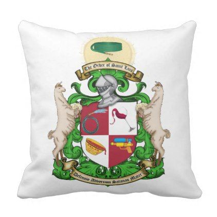 The Order of St. Luis Coat of Arms Pillow - wedding decor marriage design diy cyo party idea