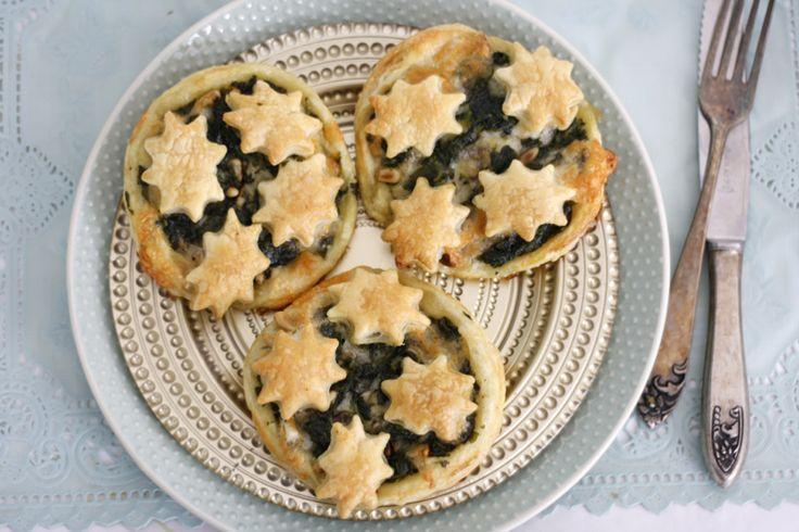 5 or less: Mozzarella-spinazie taartjes