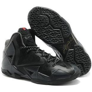 http://www.anike4u.com/ Nike Lebron 11 2013 All Black Running Shoes