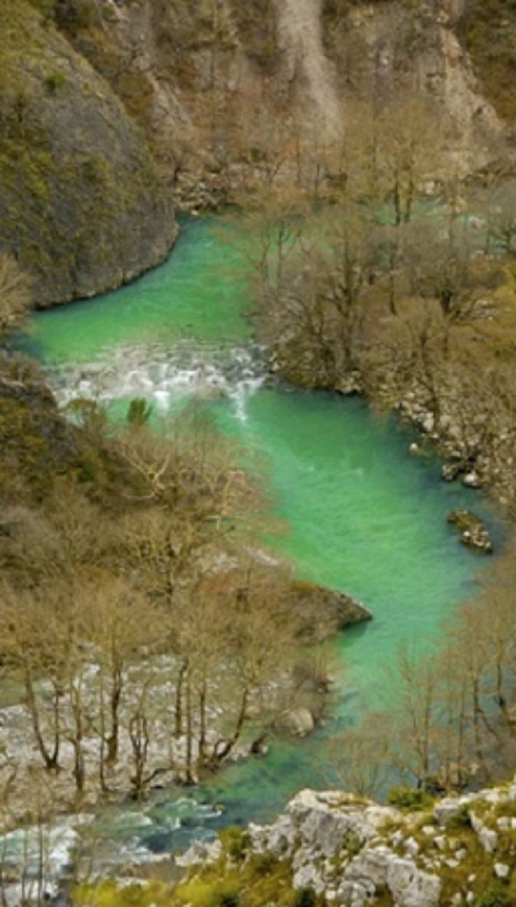 Voidomatis river in Konitsa, Epirus, Greece.