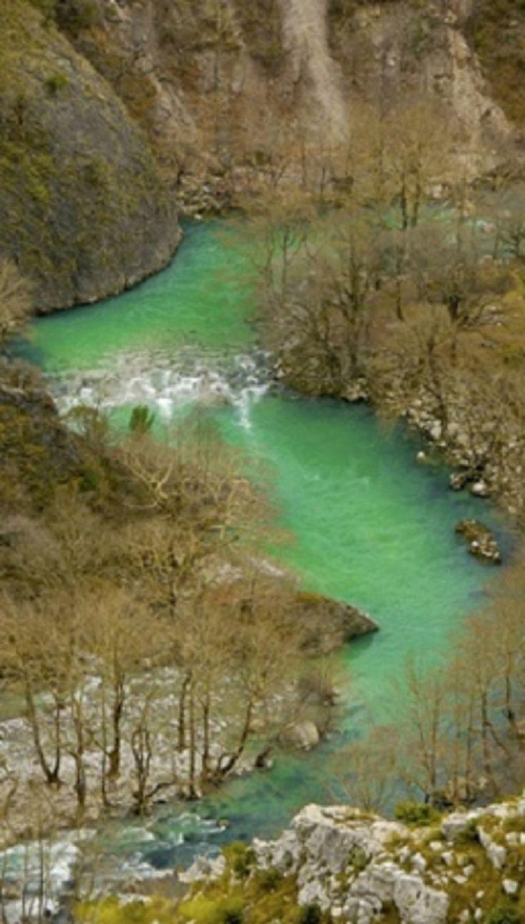 Voidomatis river in Konitsa, Epirus, Greece.