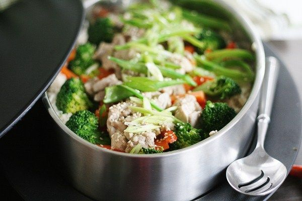 Chinese Style Stir Fry Chicken dinner