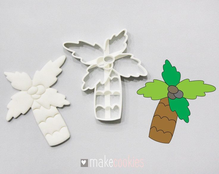 Palm Tree #2 Cookie Cutter by MakeCookies on Etsy