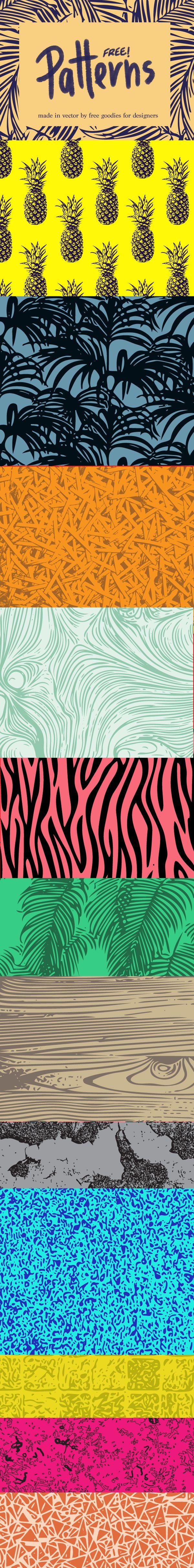 Download free 15 amazing vector patterns here :http://freegoodiesfordesigners.blogspot.se/2015/04/15-free-fresh-colorful-patterns.html #freegoodiesfordesigners
