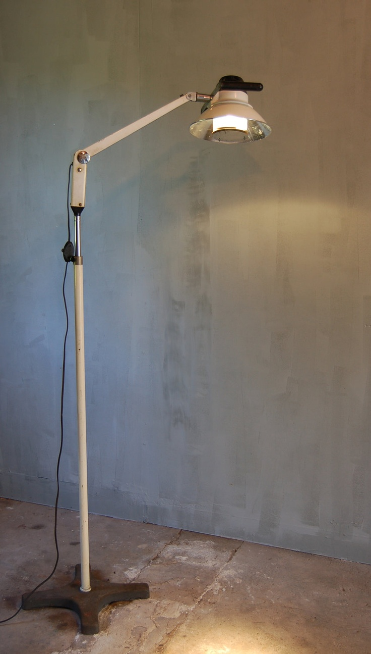 Vintage 40s cast iron metal deco industrial gooseneck desk lamp light - Wilmot Castle Vintage Medical Floor Lamp Vintage Medicallighting Designcast Ironfloor Lampsmodern Industrialindustrial