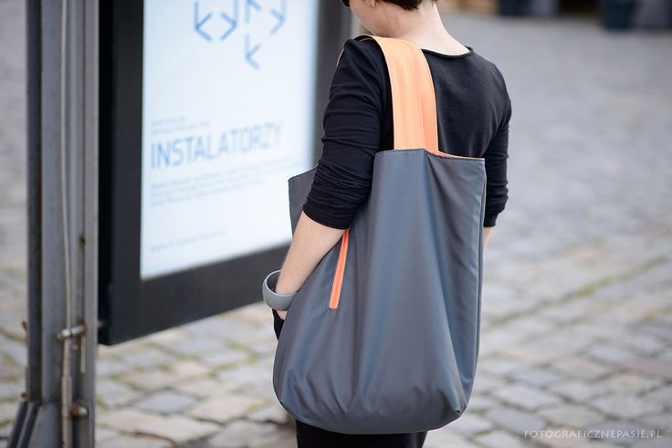 Large, packable bag - XXL waterproof fabric. 4 X COLOUR - you can wear in four ways: - grey orange - gray gray - orange gray - orange orange