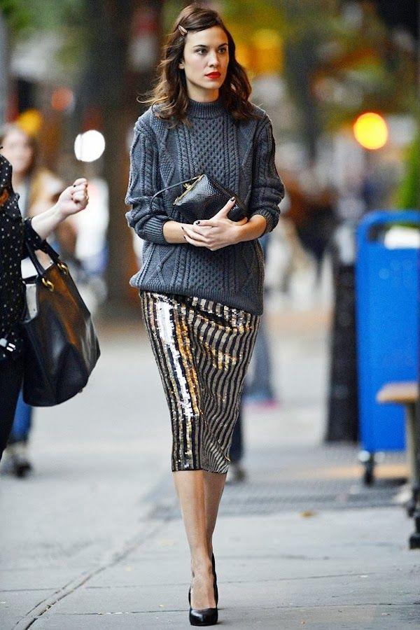 glitz + knits = love this!