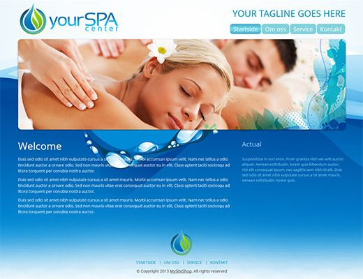 Template 010: Spaa Lovely, fresh web template.  #webdesign #template #freewebsite #spa #blog