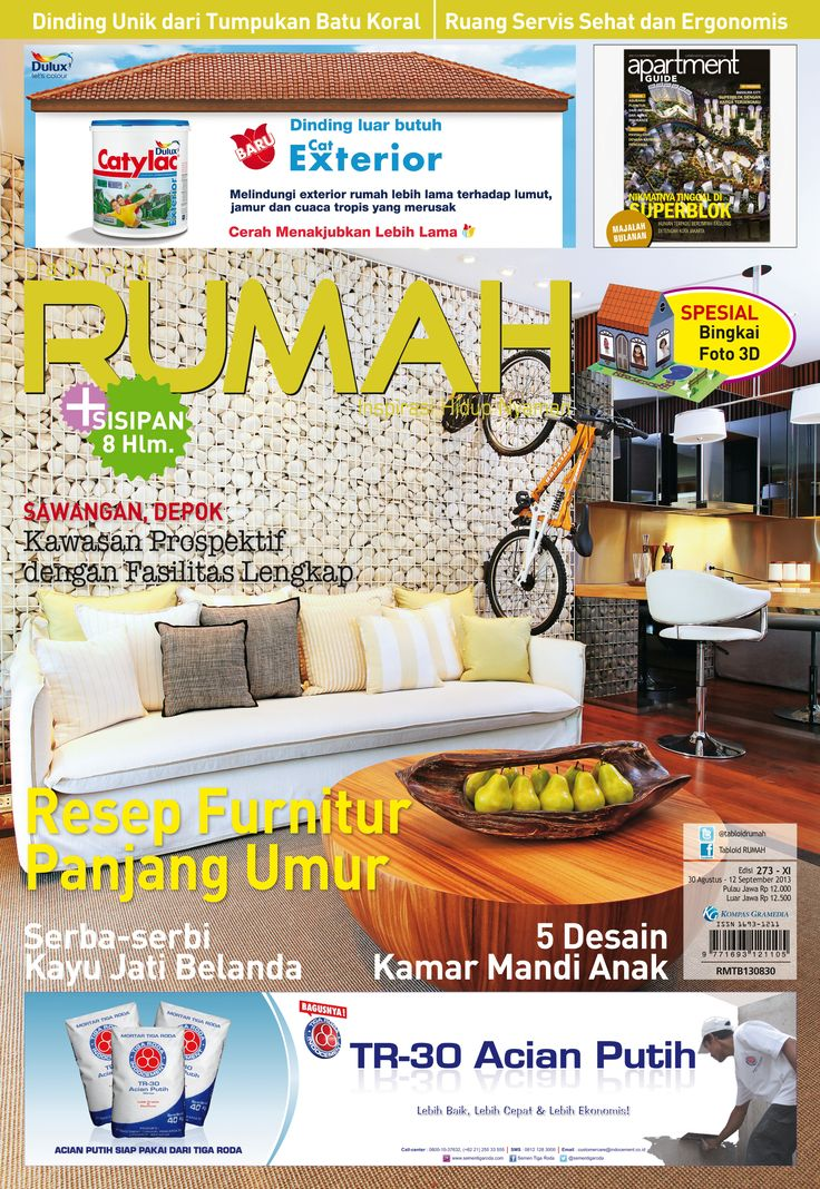 Beautiful Homes Design, Beautiful Interior and Exterior Home Design Ideas, Cover tabloid RUMAH edisi 273