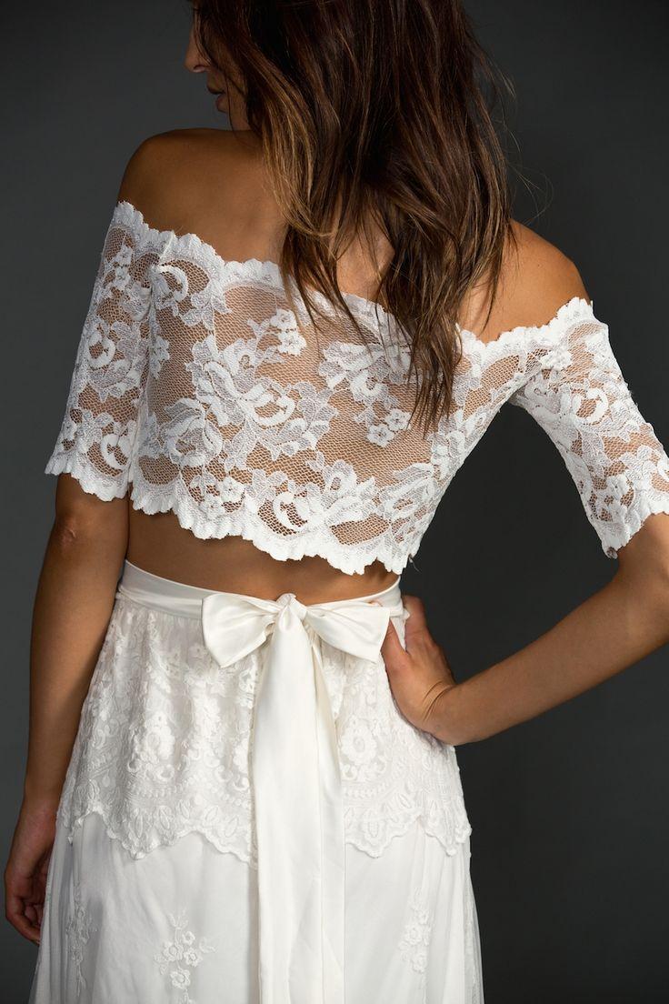 Vestido de Novia de Grace Loves Lace (Jasmine), corte recto, escote otros, largo