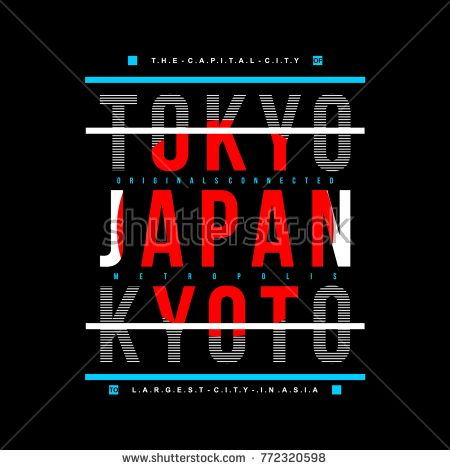 tokyo typography tee graphic design, vector illustration element artistic stock image Design Vector, Graphic Design, Design Kaos, Tokyo Japan Travel, Creative Typography Design, Tokyo Design, Stock Image, Art Logo, Logo Inspiration