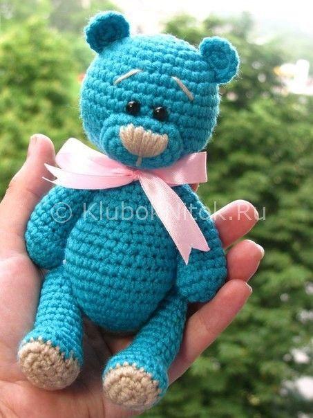 Медвежонок | Вязание для детей | Вязание спицами и крючком. Схемы вязания.