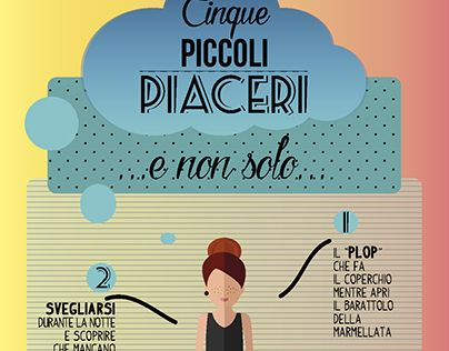"""Check out new work on my @Behance portfolio: """"Cinque Piccoli Piaceri, funny infographic"""" http://be.net/gallery/37113605/Cinque-Piccoli-Piaceri-funny-infographic"""