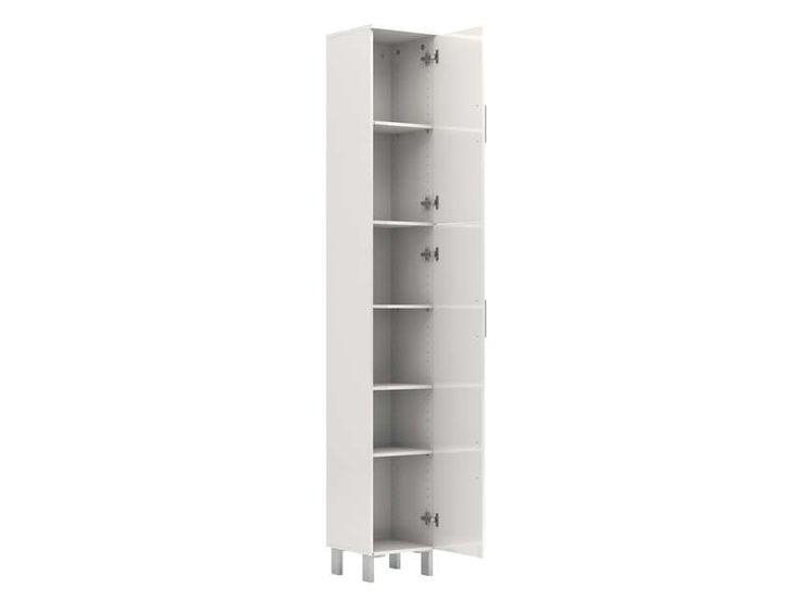 colonne salle de bain lake coloris blanc vente de armoire colonne tagre - Etagere Conforama