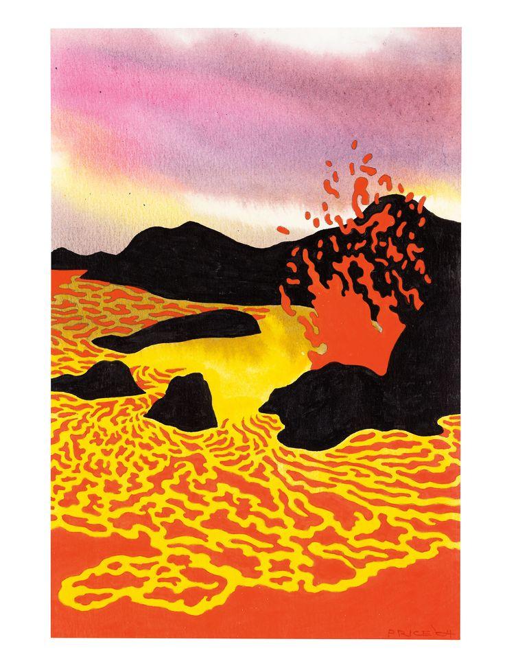 Ken Price (1935-2012, USA) - Hawaiian Lava Lake, 2004      Drawings: Ink, Acrylics