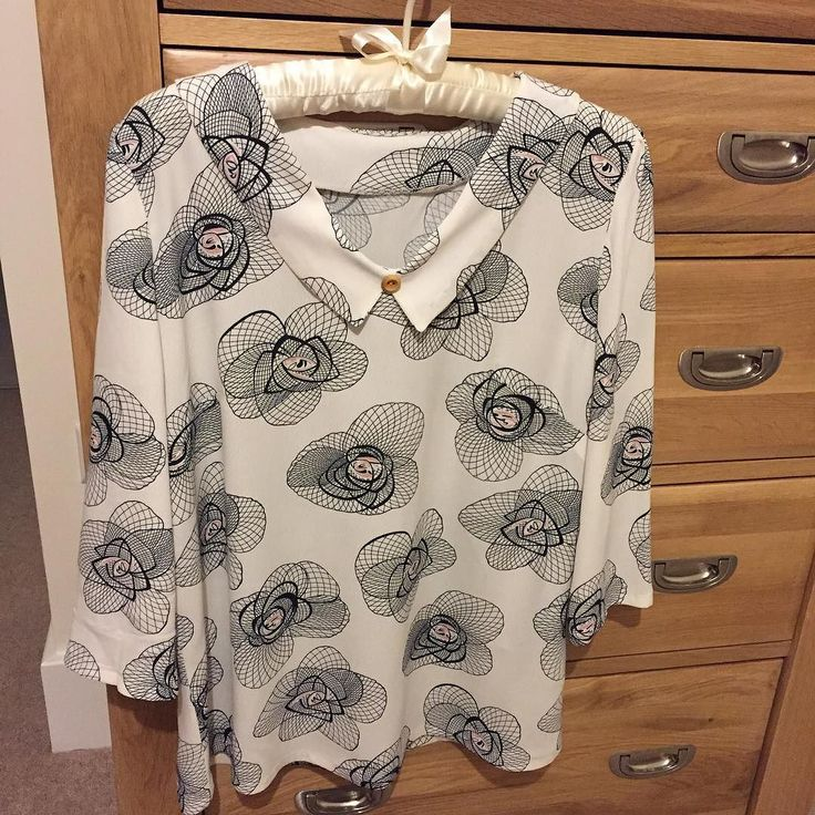 Lovely Susie Blouse made from Till The Sun Goes Down viscose fabric. So pretty!