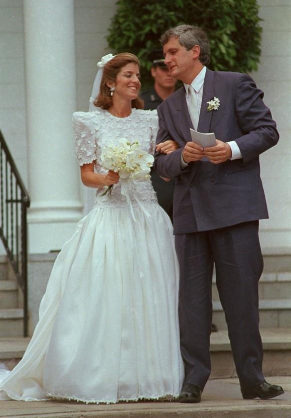 July 19, 1986 Caroline Kennedy and Edwin Schlossberg on their wedding day ion Cape Cod