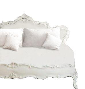 Our Vintage Euro ornate headboard couch