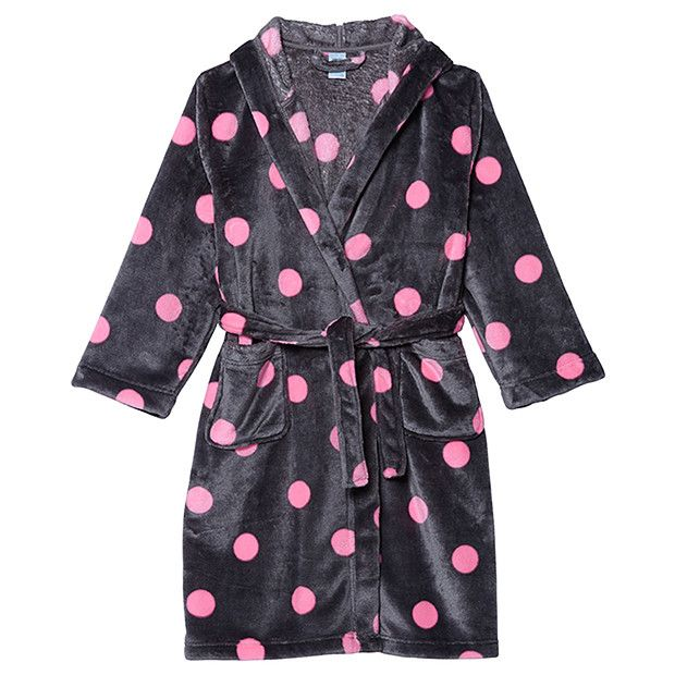 GOT Girls' Hooded Dressing Gown - Spots