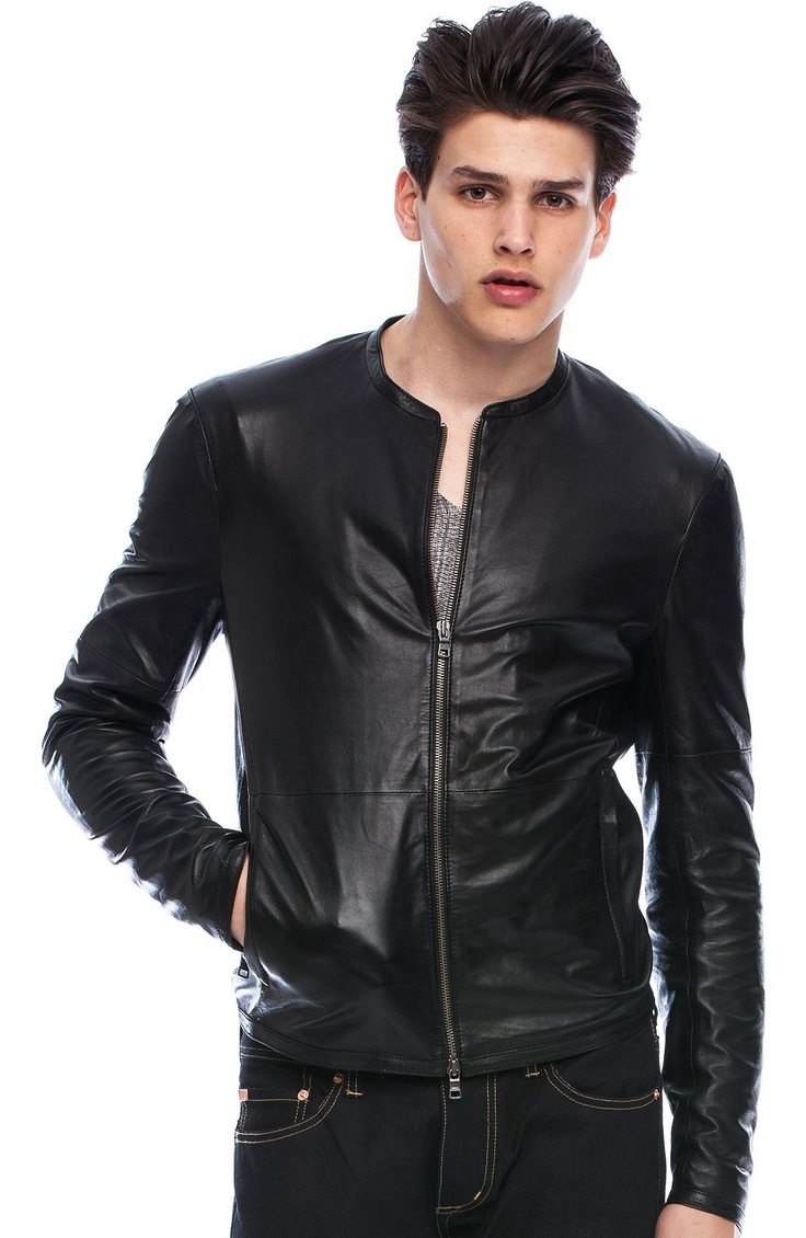 Leather Jacket Jackets Mens Armani Exchange Leder
