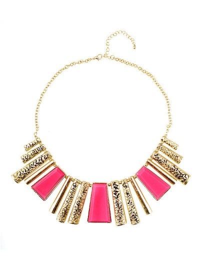 Neon stone pendant necklace in neon pink, AU$19.99 from Ally, Australia. Also comes in neon lime.