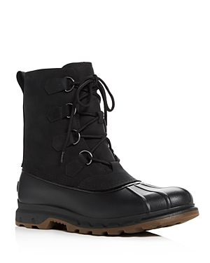 SOREL MEN'S PORTZMAN CLASSIC WATERPROOF SUEDE & LEATHER LACE UP BOOTS. #sorel #cloth #
