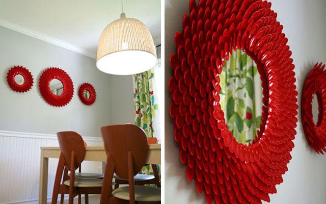 DIY: Decoración de marcos para espejos redondos - Decofilia.com