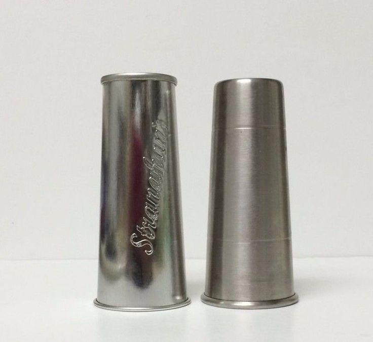 Stranahan's Whiskey Stainless Steel Shot Glasses ( Lot Of 2 )