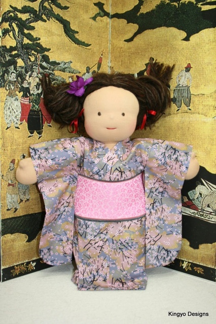 "Kingyo Designs makes these awesome Kimono for 15"" Waldorf dolls. I LOVE this... Then again I'm biased. I used to live in Japan.: Waldorf Dolls, Waldorf Rocks, Awesome Kimono, I M Biased, Fun Things, Kingyo Designs"