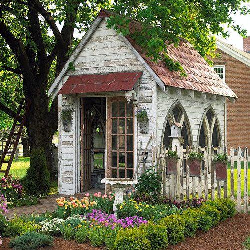 HomeGoods   You Decide: Garden Shed or Backyard Retreat