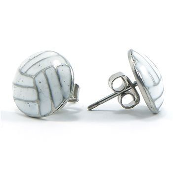 GemGear Volleyball Earrings by GemGear. $6.99. Tasteful and elegant, these white enameled volleyball earrings are Hypo-allergenic.