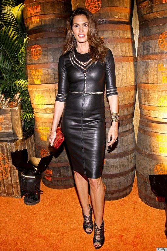 Cindy Crawford - always a fan of leather.