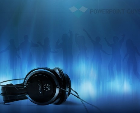 Dj Water Mark Powerpoint Slide Template  Entertainment Powerpoint