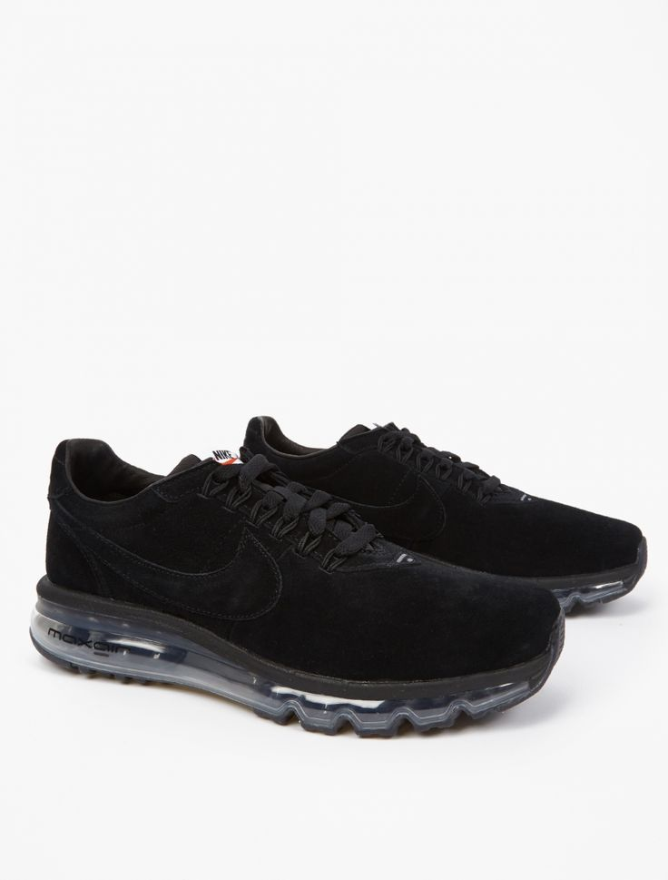 The Nike Nike Air Max LD-Zero Sneakers for AW16, seen here in black.  Designed in collaboration with Fragment's Hiroshi Fujiwara, Nike's Air Max LD-Zero offers an updated take on the innovative LD-1000. Crafted from premium suede, the sneaker sits atop a transparent 360 Air Max sole unit for ultimate comfort and performance. The boundary-pushing sneakers are finished with subtle branding throughout.