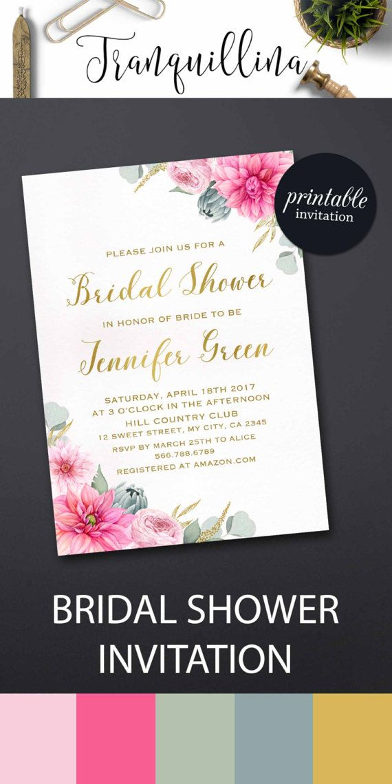 630 best Wedding Invitations, Bridal Shower Party Invitations - printable bridal shower invites