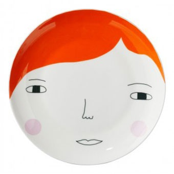 Donna Wilson - face plate...: Ceramics Painting, David Morgan, Beautiful Ceramics, Chic Blog, Orange Naranja, Plates Plato, Donna Wilson, Orange Head, Bowls