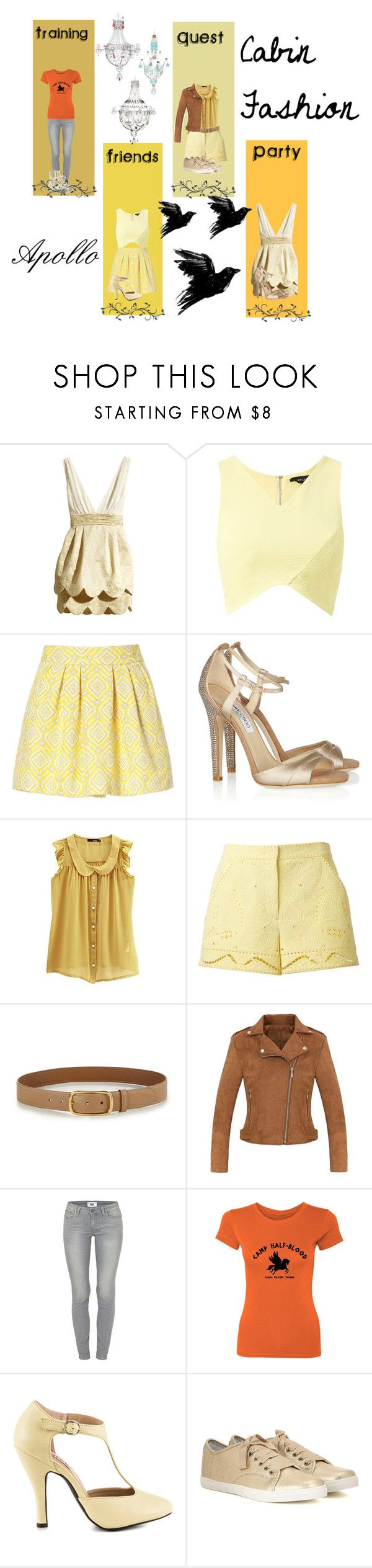"""""""Apollo Cabin Fashion"""" by tinkerbell06 ❤ liked on Polyvore featuring Zara, Jimmy Choo, Emilio Pucci, Prada, Paige Denim, Mojo Moxy and Rick Owens"""