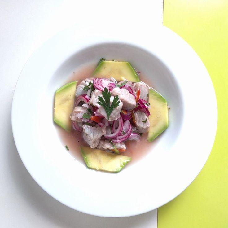 Ceviche de atum com abacate 🐟 🥑