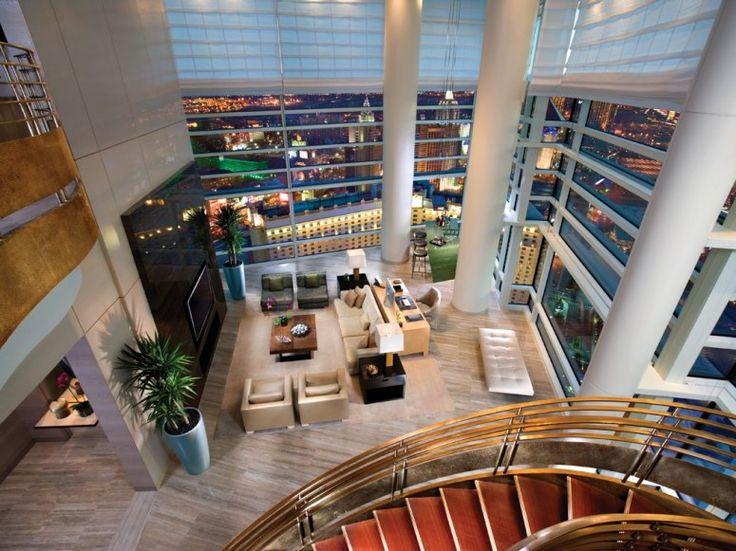 Fit for a high roller. Sky Villa 12, Aria Resrt & Casino, Las Vegas, Nevada. 36-foot ceilings