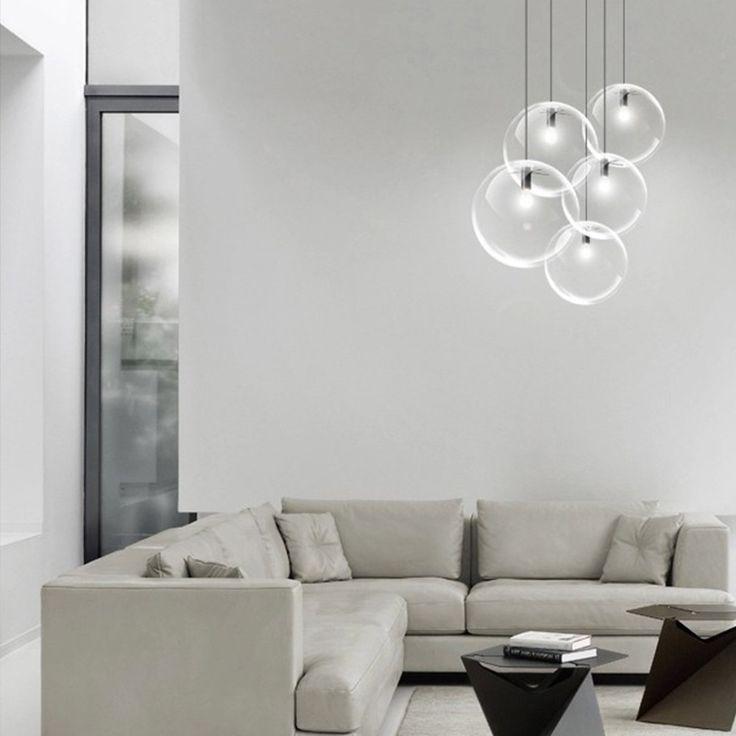 Die besten 25+ Pendelleuchte glaskugel Ideen auf Pinterest - deckenleuchte wohnzimmer design