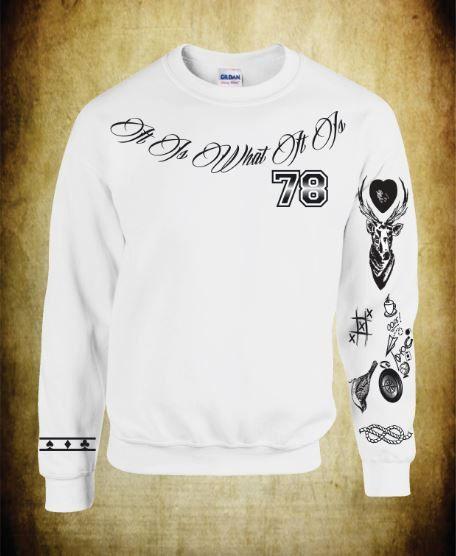 Unisex Crewneck Sweatshirt Louis Tomlinson Tattoos One Direction 1D on Etsy, $40.00