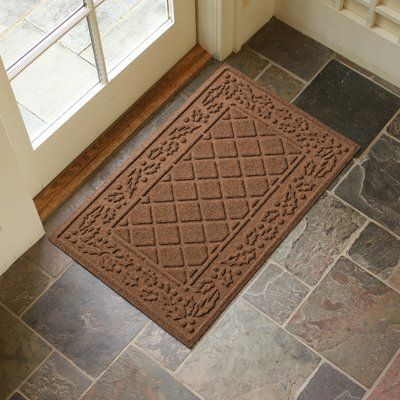 Alcott Hill Olivares Diamond Holly Outdoor Doormat Color: Dark Brown
