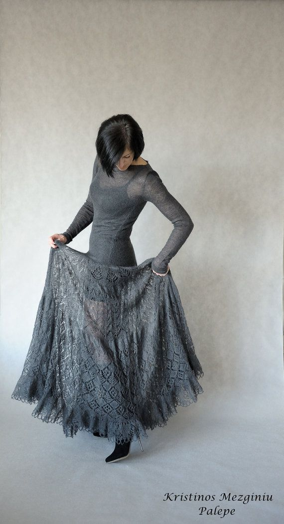 Hand knitted mohair dress