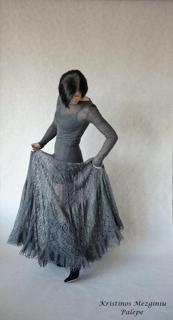 Hand knitted mohair dress