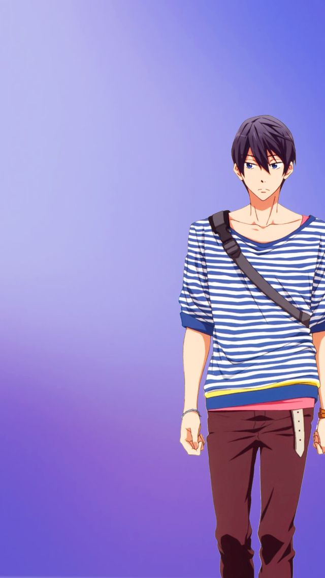 Cute Animated Boys, Free!iPhone 5 Backgrounds (more anime...