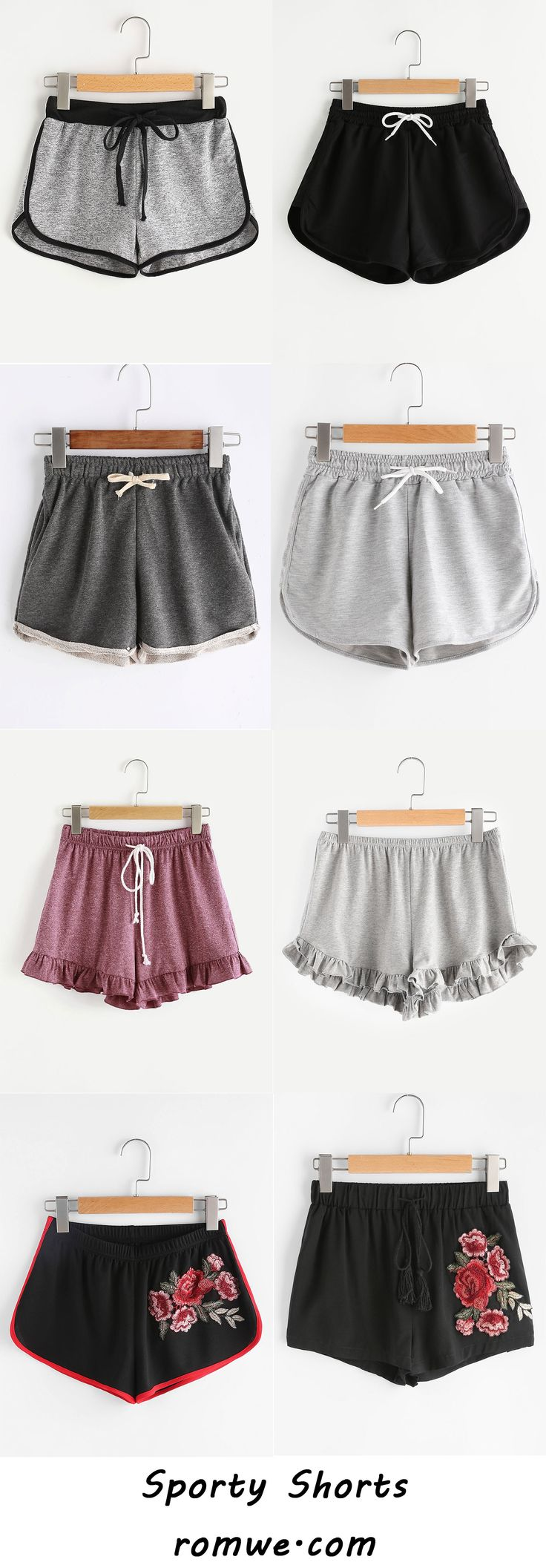 Sporty Shorts with soft material and special design - romwe.com